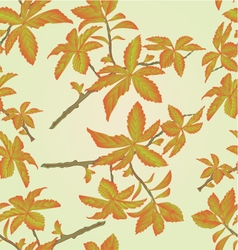 Seamless texture twig decorative shrub vector image
