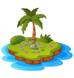 A tropical island vector