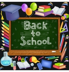 Back to School background vector image vector image