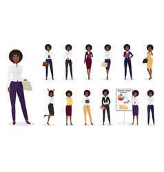 cartoon african american businesswoman vector image vector image