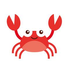 cute crab sealife character vector image