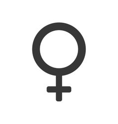 gender female circle sign icon graphic vector image vector image