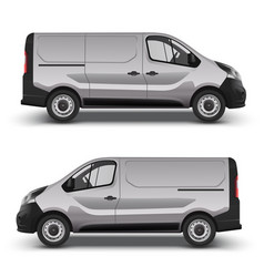 gray minivan right and left side view vector image vector image