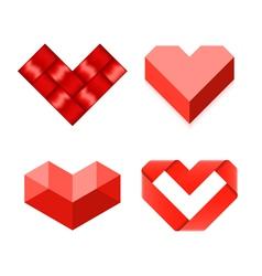 Heart shaped symbols vector image vector image