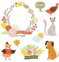 holiday graphic elements collection vector image
