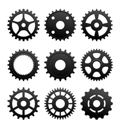 Pinions and gears set vector image