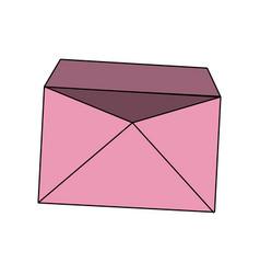 pink blank envelope open postal email vector image vector image