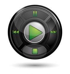play button vector image vector image