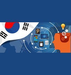 south korea it information technology digital vector image vector image