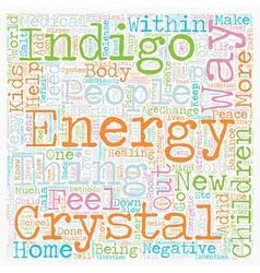 Indigo Crystal Phenomena ADD ADHD Children text vector image