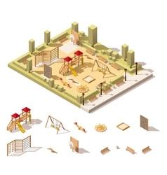 isometric low poly playground icon vector image