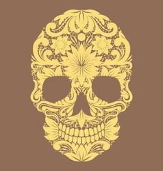 Skull Ornamental Flower vector image vector image