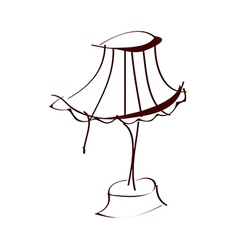 A lampstand vector