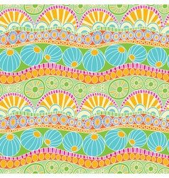 Abstract colorful doodle pattern Hand drawn doodle vector image
