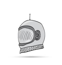 astronaut helmet cartoon vector image