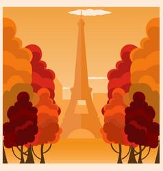 Autumn in paris france autumn vector