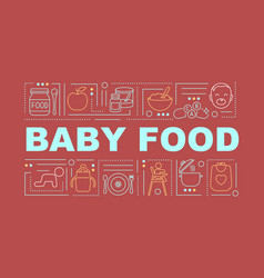 Baby food word concepts banner vector