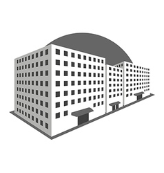 Buildings in perspective on a white background vector