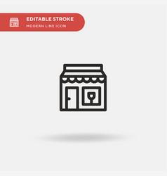 cafe simple icon symbol vector image