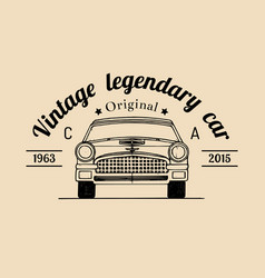 car repair logo with retro automobile vector image