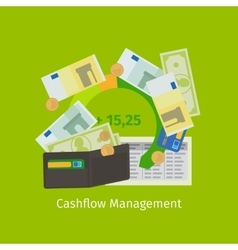 Cashflow management cartoon vector