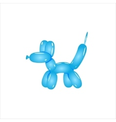 Classic Blue Balloon Dog vector