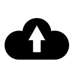 Cloud service the black color icon vector