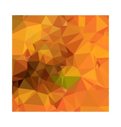 Deep Carrot Orange Abstract Low Polygon Background vector image