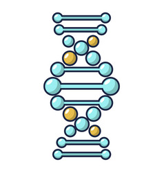 dna icon cartoon style vector image