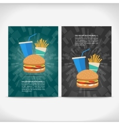 Fast food leaflet design vector image