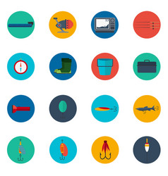 fishing icons fishing icons set fishing icons vector image