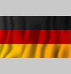 germany realistic waving flag national country vector image
