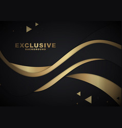 gold and black abstract waves vector image