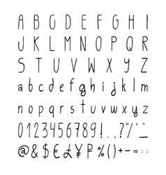 Handwritten simple alphabet set vector