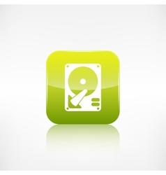 Hard disc icon Application button vector