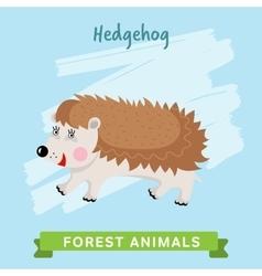 Hedgehog forest animals vector image