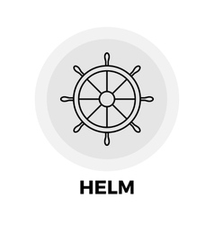 Helm Line Icon vector