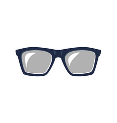 hipster glasses isolated icon vector image