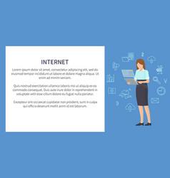 Internet banner multicolor vector
