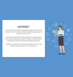 internet banner multicolor vector image