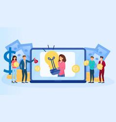 Investor online platform vector