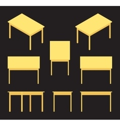 Isometric yellow table vector image