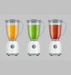 juicer with juice smoothie mixer kitchen vector image
