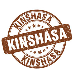 Kinshasa brown grunge round vintage rubber stamp vector