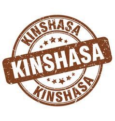 Kinshasa brown grunge round vintage rubber stamp vector