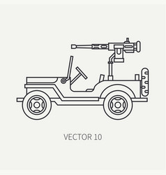 line flat plain icon armed open body army vector image