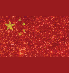 luxury red and yellow glitter peoples republic of vector image