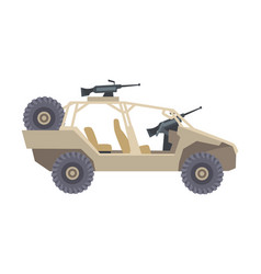 Military car as transportation vehicle used in vector