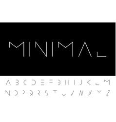 Minimal font - modern futuristic design vector