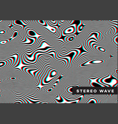 Modern stereo background abstract geometric vector